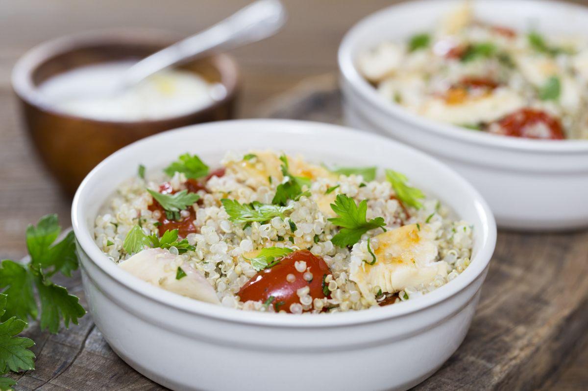 Salada de Quinoa com Iogurte Natural